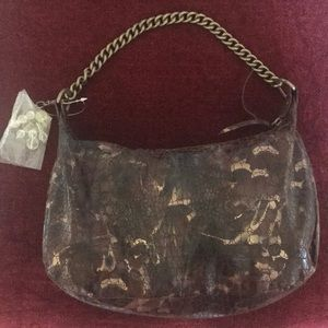 Necessary Objects handbag with brass chain strap
